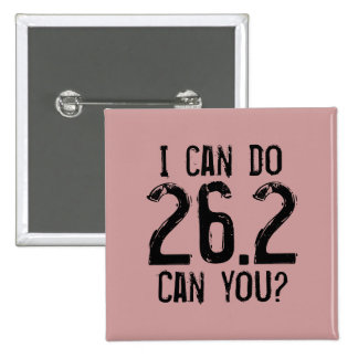 I can do 26.2 -- Can you? 15 Cm Square Badge