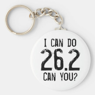 I can do 26.2 -- Can you? Basic Round Button Key Ring