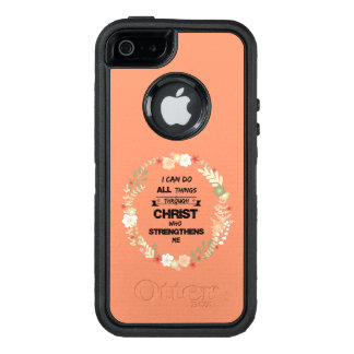 I Can Do All Things Bible Verse OtterBox Defender iPhone Case