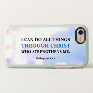 I Can Do All Things Through Christ Bible Verse OtterBox Symmetry IPhone 8 7 Case