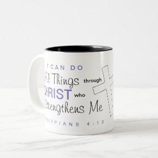 """I can do all things through Christ"" Mug"
