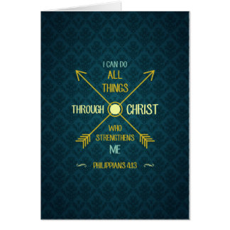 I Can Do All Things Through Christ Philippians 4 Card