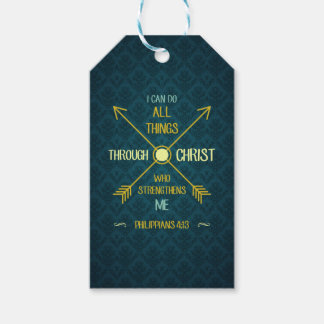 I Can Do All Things Through Christ Philippians 4 Gift Tags