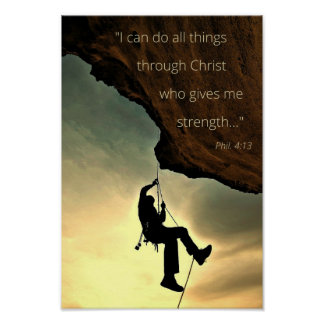 I Can Do All Things Through Christ Poster 11' x 14