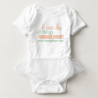 I can do all things through Christ Who strengthens Baby Bodysuit