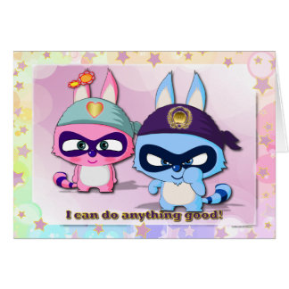 I Can Do Anything Good Cute Cartoon Character Card