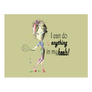 I can do anything in my heels digital art post cards