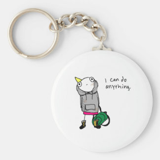 I can do anything. basic round button key ring