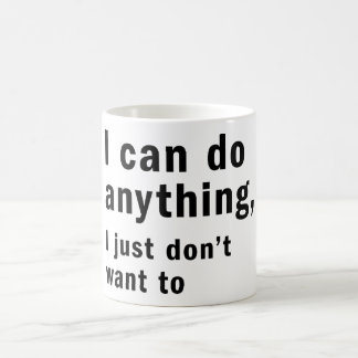 i can do anything mug