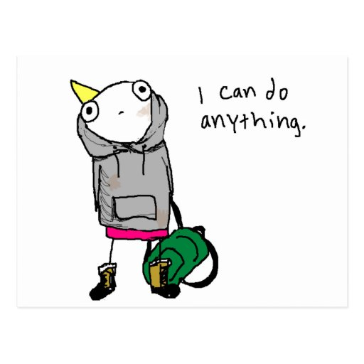 I can do anything. postcard