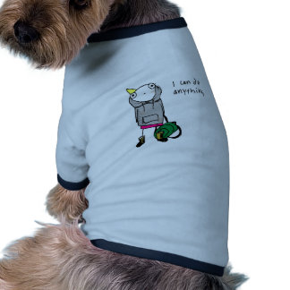 I can do anything. ringer dog shirt
