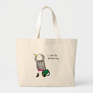 I can do anything. jumbo tote bag