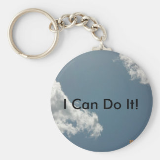 I Can Do It Basic Round Button Key Ring