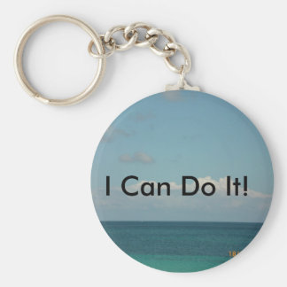 I Can Do It! Basic Round Button Key Ring