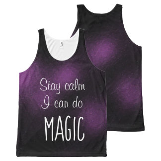 I can do MAGIC Cool Dark Purple Goth Pattern All-Over Print Singlet