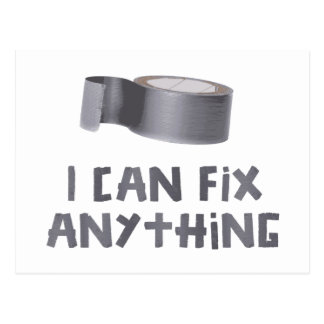 I Can Fix Anything with Duct Tape Postcard