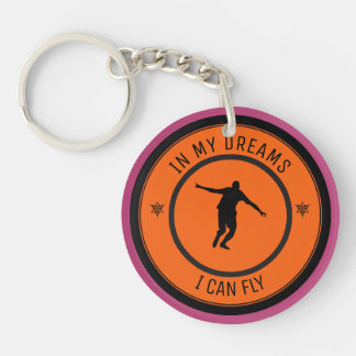 I CAN FLY Double-Sided ROUND ACRYLIC KEY RING
