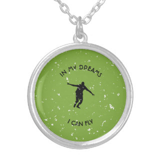 I CAN FLY SILVER PLATED NECKLACE