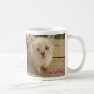 I can has hug?  Cute kitty. Coffee Mug