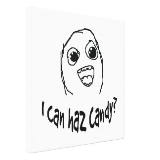 I can haz candy canvas print