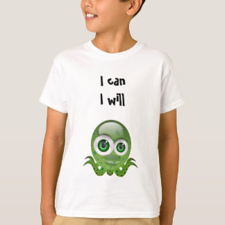 """""""I can I will"""" Inspiring T-shirt for Kids"""