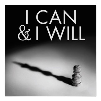 I CAN & I WILL poster