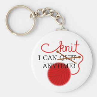 I can knit anytime keychain