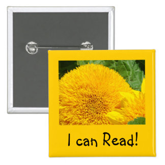 I can read buttons Yellow Orange Sunflower School