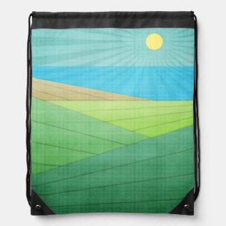 I Can See The Beach Drawstring Bag