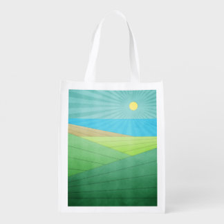 I Can See The Beach Reusable Grocery Bags