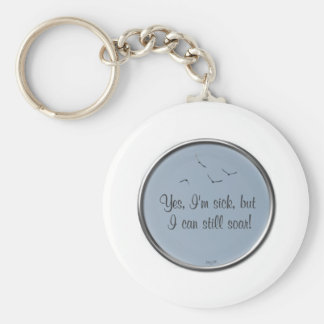 I Can Soar Basic Round Button Key Ring