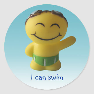 I can swim classic round sticker