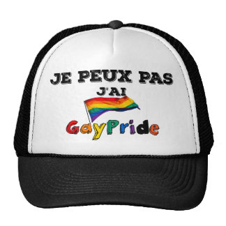 I cannot I have GayPride (French excuse) Cap