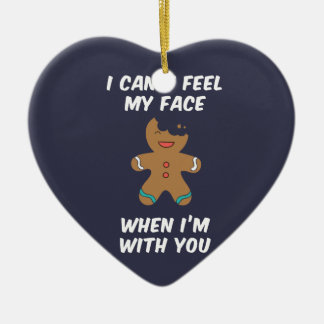 I can't feel my face when I'm with you Ceramic Heart Decoration