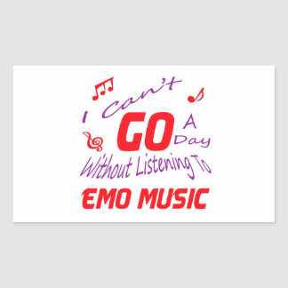 I can't go a day without listening to Emo music Sticker