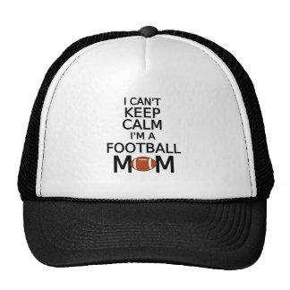 I can't keep calm, I am a football mom Mesh Hat