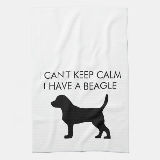 """I can't keep calm I have a beagle"" kitchen towel"