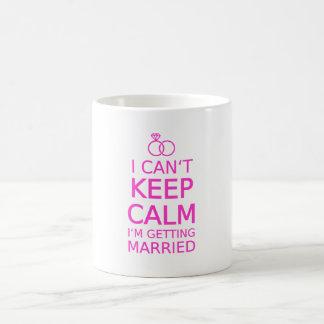 I can't keep calm, I'm getting married Basic White Mug