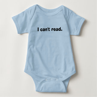 I can't read. baby bodysuit