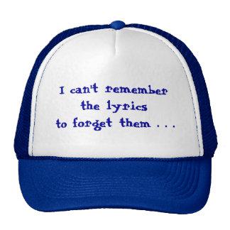 I can't remember cap