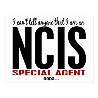 I Cant Tell Anyone NCIS Agent Postcard