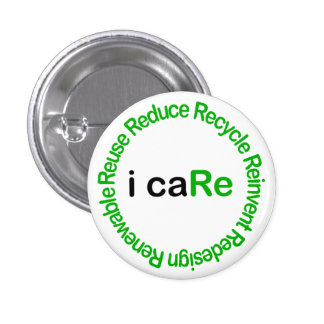 I Care 3 Cm Round Badge