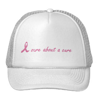 I care about a cure trucker hat