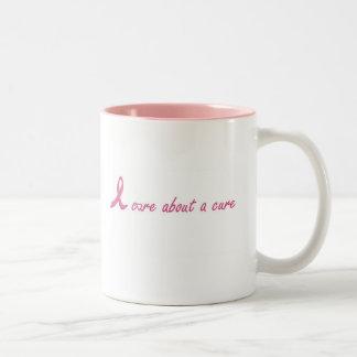 I care about a cure coffee mug