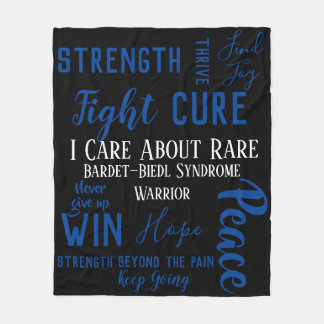 I Care About Rare (add your own disease) Fleece Blanket