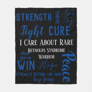 I Care About Rare (custom with your own disease) Fleece Blanket