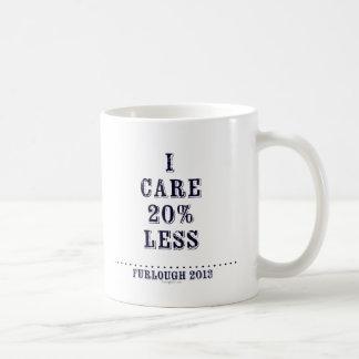 I Care Less Basic White Mug