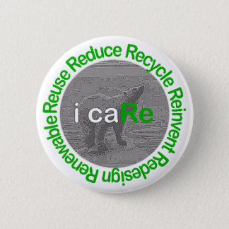 i caRe Polar Bear 6 Cm Round Badge