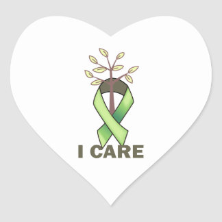 I CARE HEART STICKERS