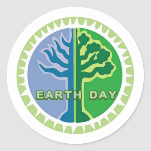 I Celebrate Earth Day Stickers